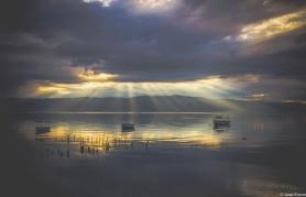 ALBANIA MACEDONIA BORDER LAKE
